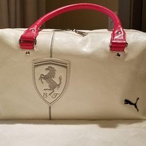 Puma Scuderi Ferrari White/Red Shoulder Bag RARE